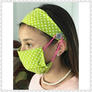 Handmade Headband & Face Masks Set